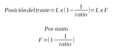 Trastes y ratios 2 - Ecuación